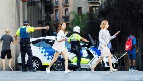 Van plowed into the crowd in Barcelona