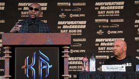Floyd Mayweather Jr. v Conor McGregor - News Conference