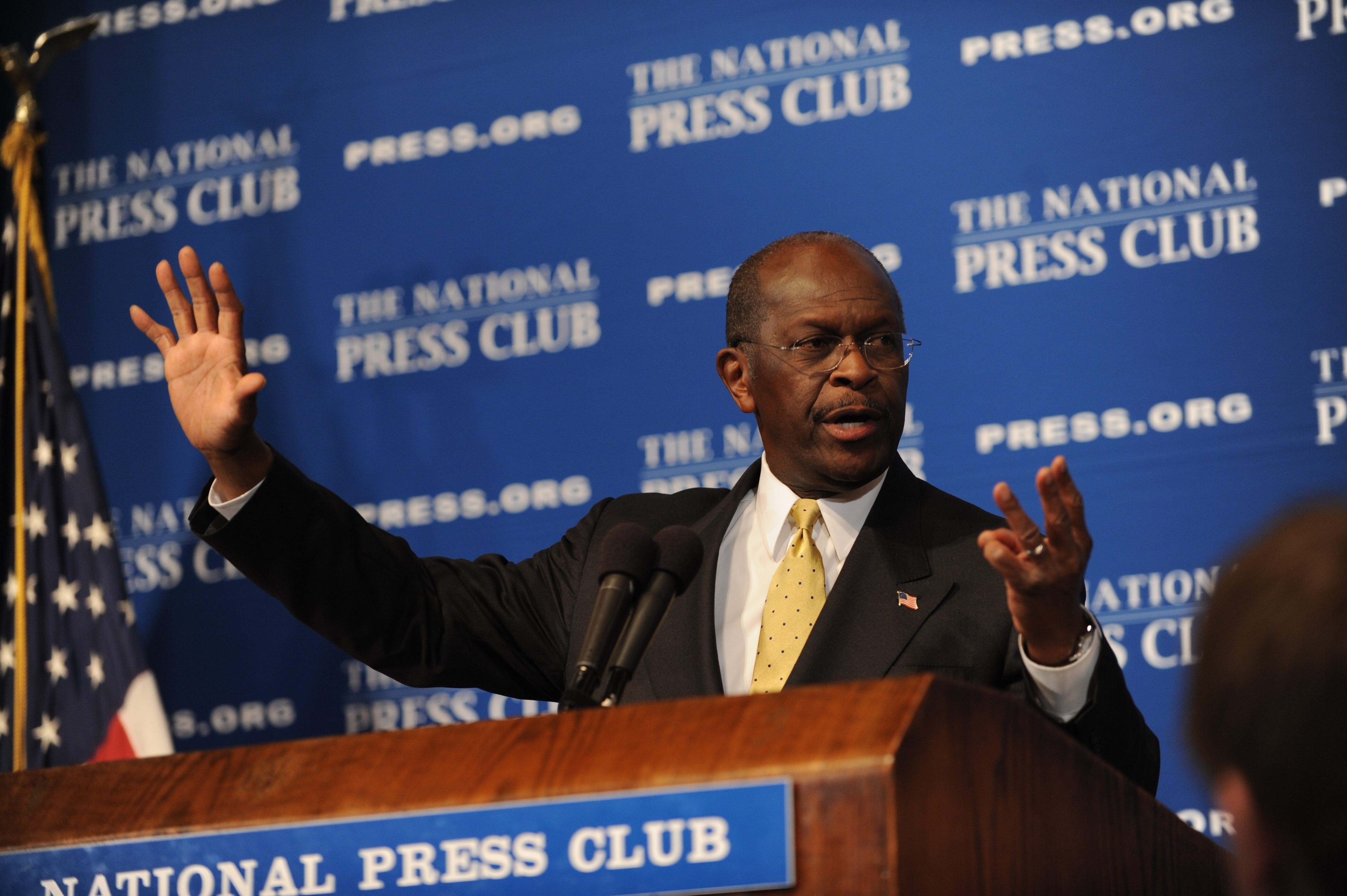 USA - 2012 Election - Herman Cain at the National Press Club