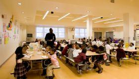 Cafeteria in Benjamin Banneker School, New Jersey