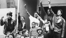 African Americans Give Black Power Salute