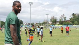 Carmelo Anthony Attends Soccer Clinics For Children