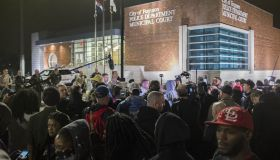 Protests at Ferguson Police Department