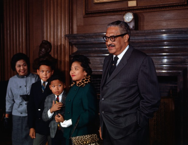 Portrait of Thurgood Marshall with His Family