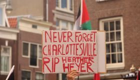 Protest against Donald Trump in Amsterdam