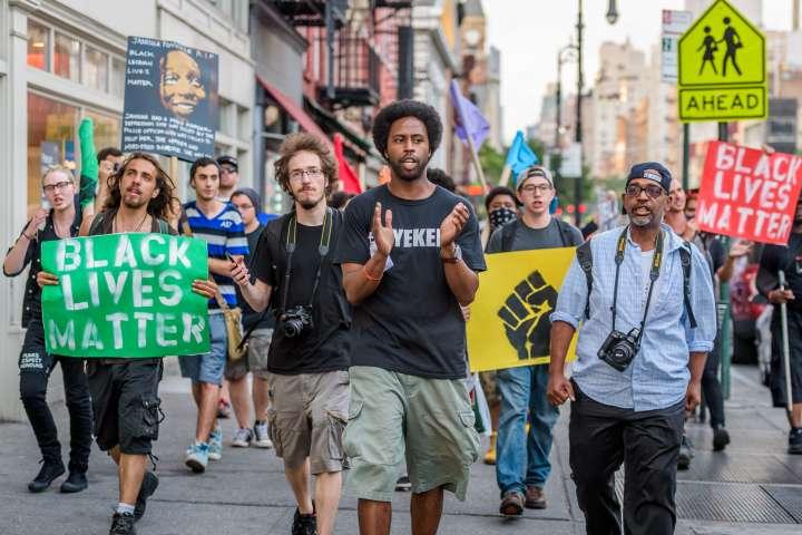People's Monday Black Lives Matter NYC march - Janisha...