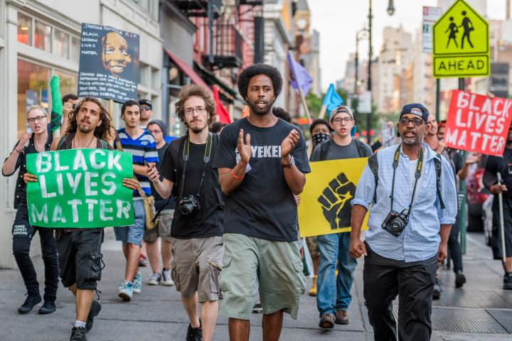 People's Monday Black Lives Matter NYC march - Janisha...