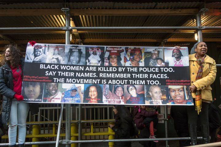 USA, New York, Protesters of police killing march in New York demanding Justice For All