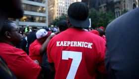 Protest in Support of Colin Kaepernick in New York