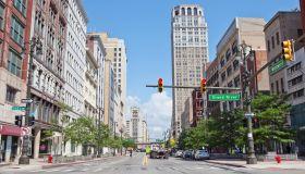 Woodward Avenue, downtown Detroit
