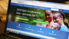 People Sign Up For Health Care Coverage Under The Affordable Care Act During First Day Of Open Enrollment