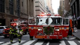 Fire broke out at a skyscraper in New York
