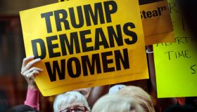 Women's Rights Advocates, Elected Officials Protest Outside Of Trump Tower