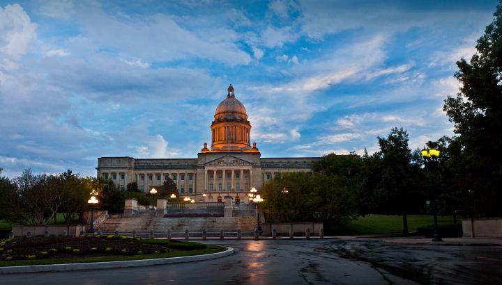 Kentucky Capitol After Rain