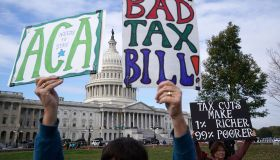Congressional Democrats Speak At Rally Protesting GOP Tax Bill On Capitol Hill