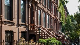 Brownstone Rowhouses in the Bedford-Stuyvesant Historic District in Brooklyn