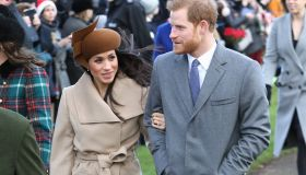Members Of The Royal Family Attend St Mary Magdalene Church In Sandringham