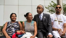 Rev. Al Sharpton And Family Of Police Chokehold Death Victim Eric Garner Brief The Media After Meeting With DOJ Officials
