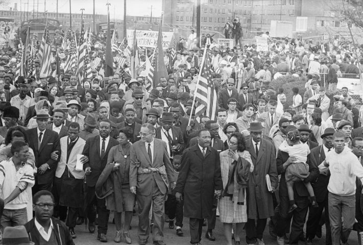 Selma/Montgomery March Leaders & Crowd