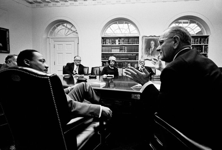 MLK & LBJ In White House