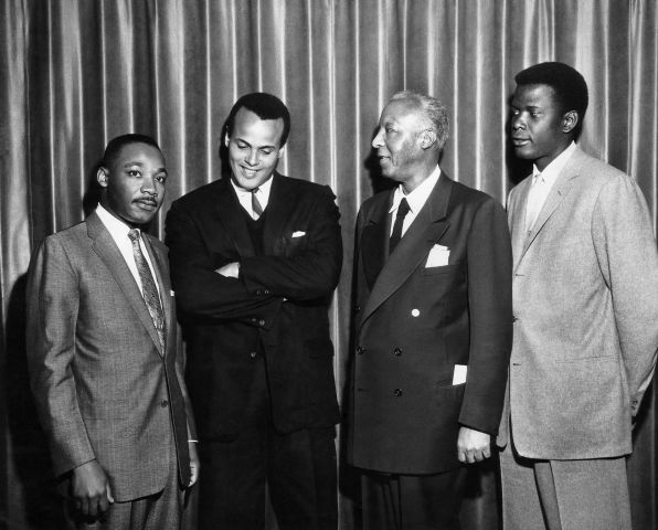 Martin Luther King Jr., Harry Belafonte, Sidney Poitier