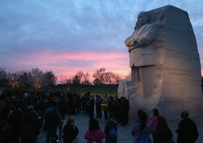 Candlelight Vigil Held In Washington On Anniversary Of MLK Assassination