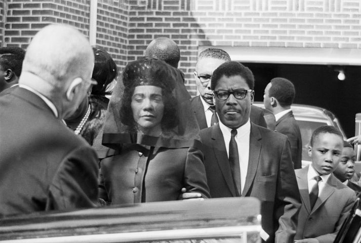 Widow Of Dr. Martin Luther King In Veil