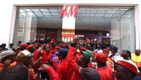 EFF protest against H&M in the Mall of Africa