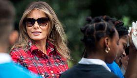 First Lady Melania Trump - White House Kitchen Garden