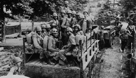 Black Soldiers in Truck