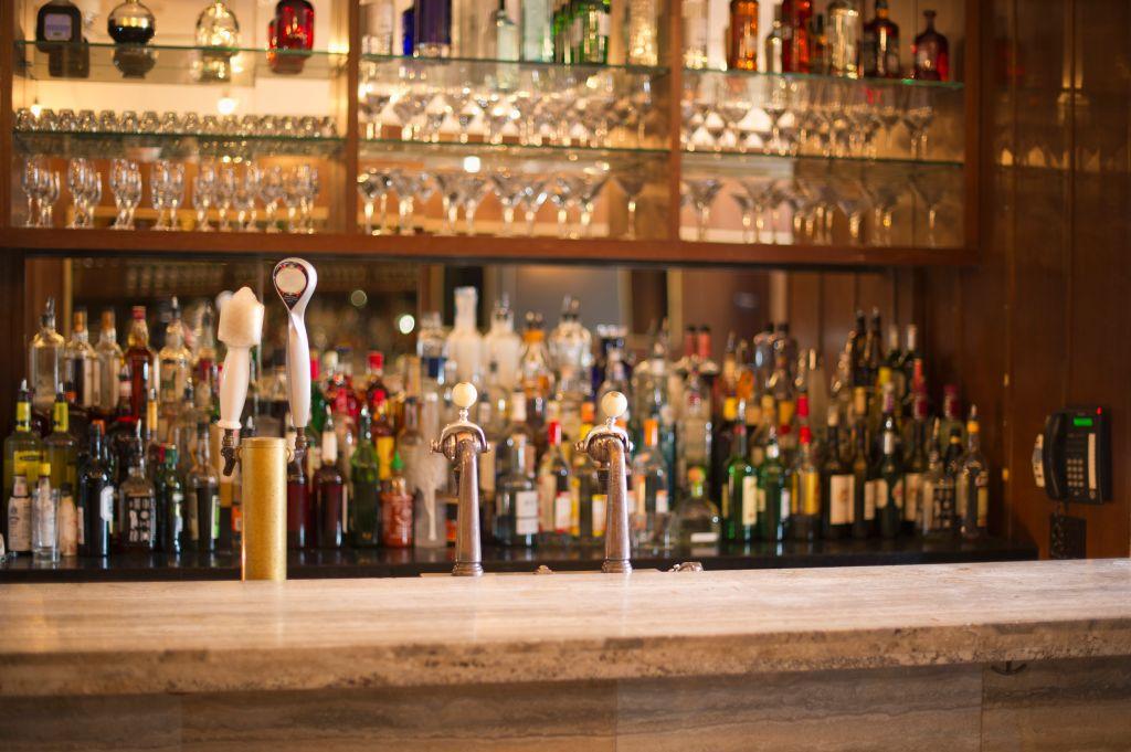 USA, New York State, New York City, Empty bar