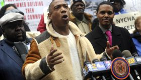 Ja Rule protests the NYC Housing Association