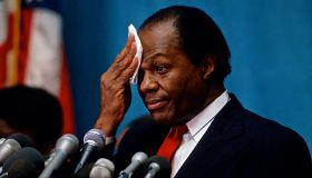 Mayor Marion Barry at News conference