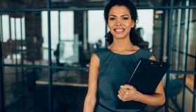 Portrait of a modern Afro-american businesswoman