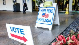 Miami Beach, polling, voting station, Vote Here Sign
