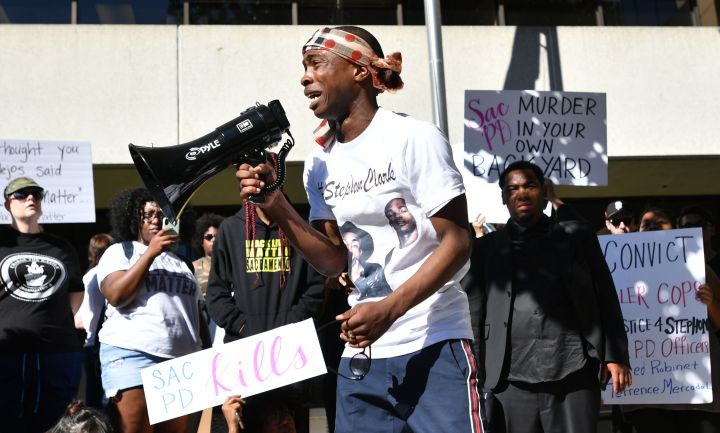 Stephon Clark's Brother Speaks To Protesters