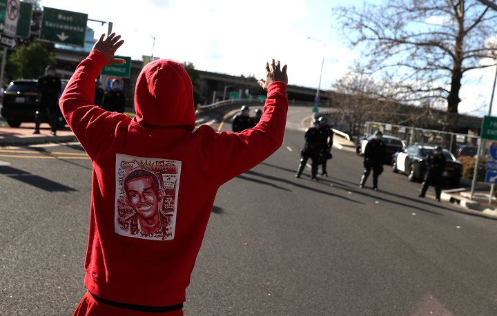 Demonstrators Protest Clark's Fatal Police Shooting
