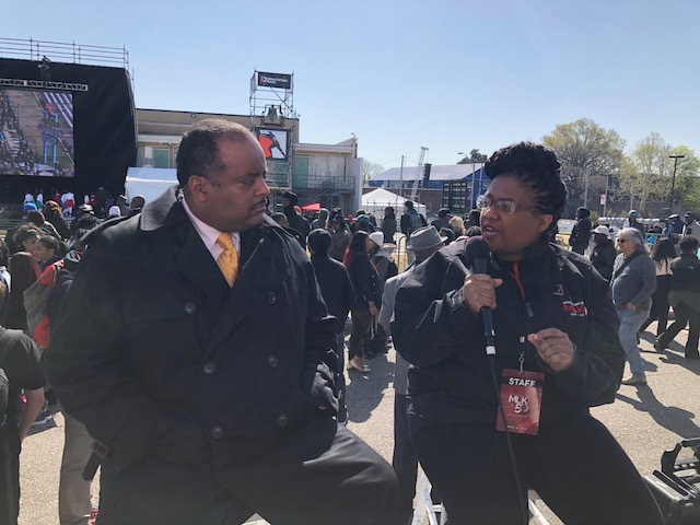 Roland Martin with Noelle Trent