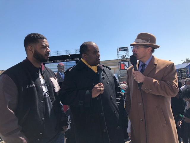 Roland Martin with Kameron Whalum and Rev. Kenneth T Whalum Jr.