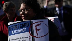 Rally At Dep't Of Education Calls For Betsy DeVos To Support Public Schools