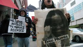 Demonstrators Rally for Justice in the Mumia Abu-Jamal Case,