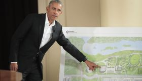 Barack Obama Hosts Community Event For Obama Presidential Center