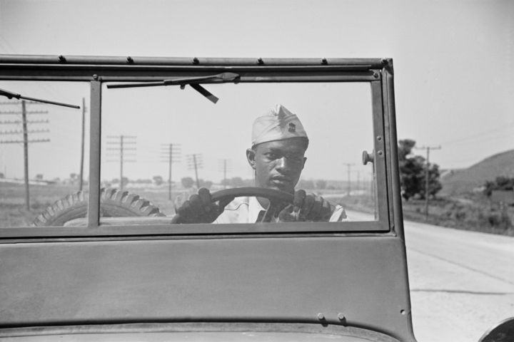 Driver of Jeep of a Reconnaissance Unit, Fort Riley, Kansas