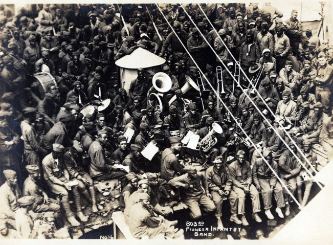 African American band members on the U.S.S. Philippine.