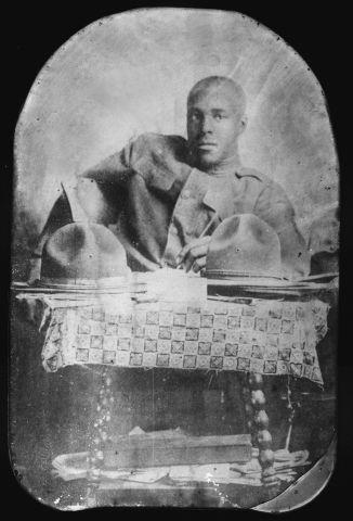 World War I: African-American soldier.