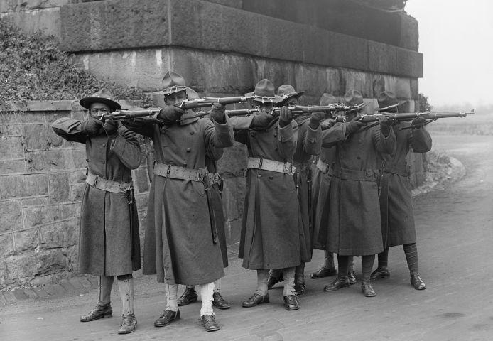 African-American Troops, World War I, circa 1917