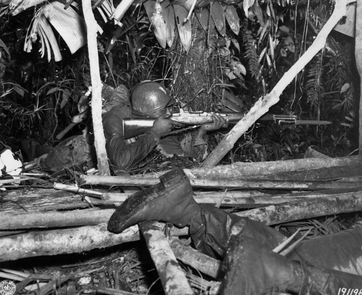 African American Solider in Jungle