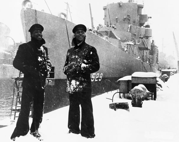 Negro sailor, of the USS Mason. The first US Navy ship to have a predominantly Negro Crew. March 20, 1944