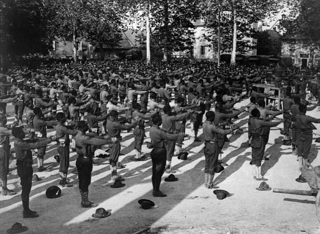 African-American Soldiers Exercising