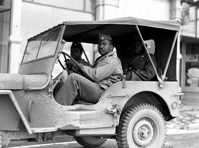 Soldiers in Jeep